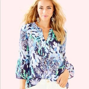 Lilly Pulitzer NWT XL Elenora Blouse